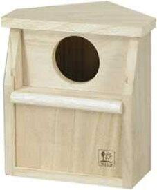 [三晃商会]リス・モモンガ用三角コーナー型木製ハウス コーナーハウス