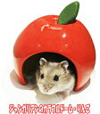 [レインボー]小型ハムスター用陶器製ハウス ジャンガリアンのカラフルドーム・りんご