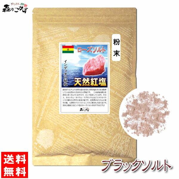【訳あり特価】 紅塩 (ブラックソルト) 700g [粉塩] 天然岩塩 ■ 南米ボリビア産 1kg 森のこかげ 健やかハウス