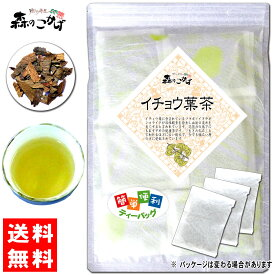 【訳あり期限2020.07】 イチョウ葉茶 (3g×17p×2袋セット)「ティーバッグ」≪銀杏茶 100%≫ 銀杏葉茶 森のこかげ 健やかハウス