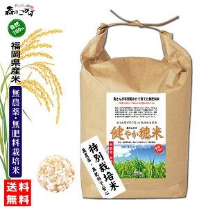 □【送料無料】 森のこかげ 健やか穂米 5kg (選べる精米 玄米/3分/5分/7分/白米) 無農薬 無肥料米