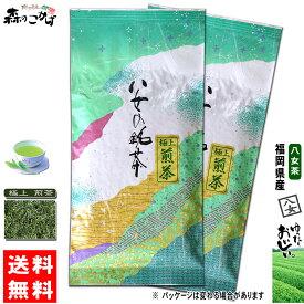 Y1【送料無料】 極上 煎茶 (100g×2個セット) 福岡県 ≪八女茶≫ 緑茶 やめちゃ ごくじょう せんちゃ 茶葉 森のこかげ 健やかハウス
