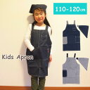 エプロン キッズ 三角巾付き キッズエプロン 子供用 三角巾セット こども 男の子 女の子 100cm 110cm 120cm お手伝い …