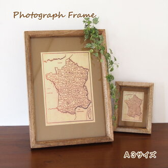Photo frame / wooden frame / wall-/ picture frame / photo frames / desktop / photo stand / amount / photo frame / gifts / Interior / natural / mango wood / wooden / display/panel / frame A3