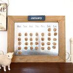 カレンダーマグネット万年カレンダーメモボードマグネットボードスケジュール壁掛け磁石マグネットメモおしゃれプレゼントギフト【ストーンカレンダー】【メール便不可】