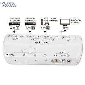 AudioComm AVセレクター 4入力1出力_AV-R401H 03-6185 オーム電機