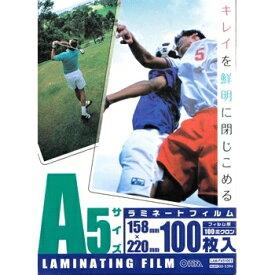 ラミネートフィルム A5 サイズ 100枚入 100ミクロン LAM-FA51003 00-5394 オーム電機