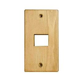 クレエ スイッチプレート 木製 無塗装 1口|71600026 09-1826