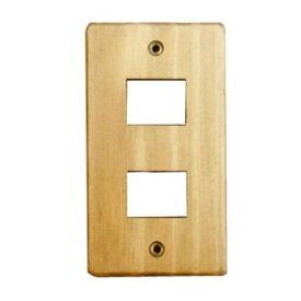 クレエ スイッチプレート 木製 無塗装 2口|71600027 09-1827