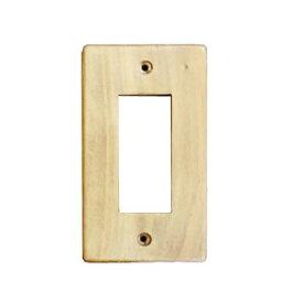 クレエ スイッチプレート 木製 無塗装 3口|71600028 09-1828