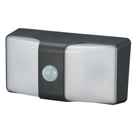 monban LEDセンサーウォールライト 乾電池式 ブラック|LS-BH22J4-K 06-4211 OHM オーム電機