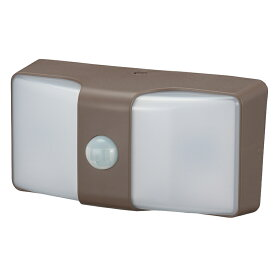 monban LEDセンサーウォールライト 乾電池式 ブラウン|LS-BH22J4-T 06-4212 OHM オーム電機