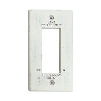 スイッチプレート 木製 ホワイト クレエ エネルジアCC 3口 WHT 09-1819