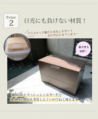 『ガルバ使用ゴミ保管庫奥行55(ふた持ち上げ式)』インテリア・寝具・収納/その他PLANK