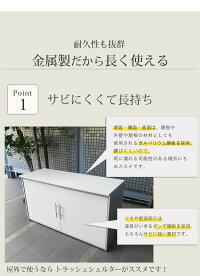 『ガルバ製ダスト収納庫幅100(2面開閉式)』インテリア・寝具・収納/その他PLANK
