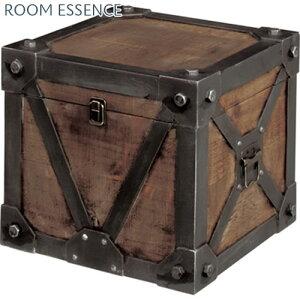 収納ボックス 収納ボックス トランク収納 収納ケース 衣類収納 トランクケース 収納箱 収納BOX 木製 ウッド 天然木 アンティーク調 ビンテージ風 レトロ アメリカン おしゃれ インテリア雑貨