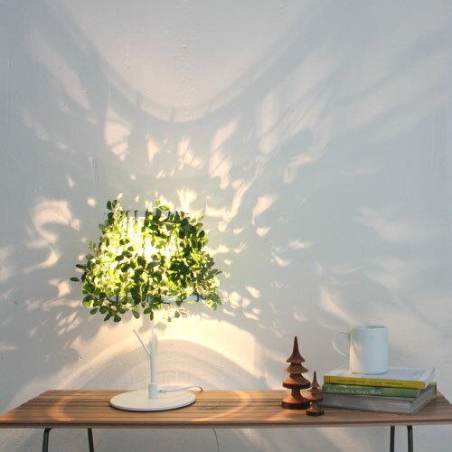 照明 フォレスティ テーブルランプ デスクライト テーブルランプ テーブルライト 間接照明 LED 40W 造花 葉っぱ リーフ グリーン