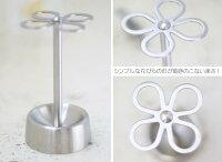 花をモチーフにしたかわいいデザインDULTON(ダルトン)『ステンレスフラワー型歯ブラシホルダーサテン』CH03-H92STペンスタンドにも
