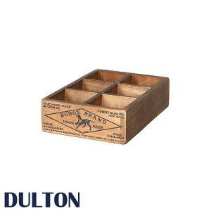 『6パーテーション ウッデンボックス』 日用品雑貨・文房具・手芸 ウッドボックス 小物入れ 小物収納 収納箱 収納ボックス 木製ボックス 木製BOX 木箱 収納BOX 整理箱 アクセサリーケース