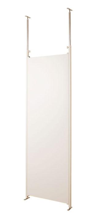 《 日本製 /お急ぎ》 突っ張り パーテーション 本体幅65cm ホワイト つっぱりパーティション 間仕切り 目隠し 衝立 空間 書斎 事務所 シンプル おしゃれ パネル 子ども部屋 業務用 リフォーム オフィス インテリア家具 スペース 国産