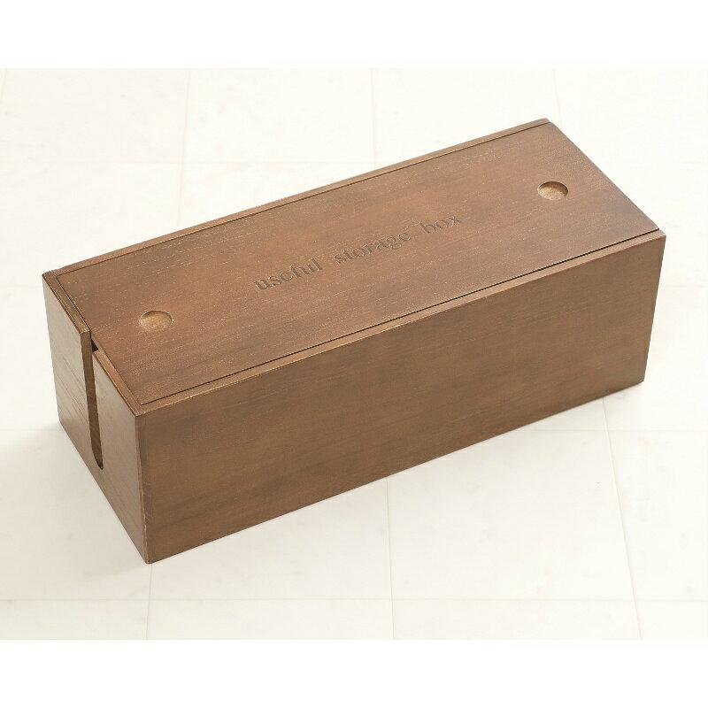 桐ケーブルボックス ブラウン色 レギュラーサイズ コードケース 収納 電源ケーブルボックス 木製 電源タップ 電源コード ケーブル収納 電源タップ 掃除 コード隠し LAN HUB ほこり防止 即納