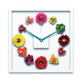 フラワー 掛け時計 掛時計 壁掛時計 壁掛け時計 花びら インテリア アートパネル 造花 おしゃれ かわいい ほとんど音がしない 連続秒針 透明 プレゼント 引越し祝い 引っ越し祝い 結婚祝い