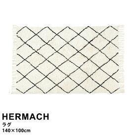 【おしゃれ ラグ】 ラグ おしゃれ マット 絨毯 カーペット リビング 寝室 シンプル ルームマット 室内用マット 北欧 ナチュラル HERMASH [エルマシュ] ラグ FL-1824