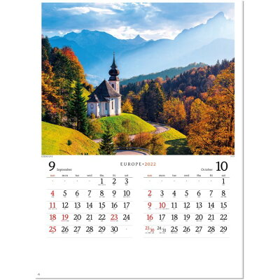 カレンダー2022壁掛けヨーロッパ