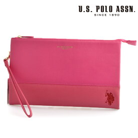 US POLO ASSN 500093 USPA-1903 pink dark pink サフィアノ クラッチバッグ 【新品・正規品・送料無料】 ギフト 【】