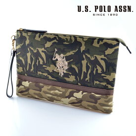 US POLO ASSN 679736 USPA-1872 camouflage Beige camouflage2 ソリッドクラッチバッグ 【新品・正規品・送料無料】 ギフト 【】