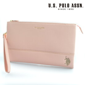 US POLO ASSN 682090 USPA-1903 ライトピンク Light Pink サフィアノ クラッチバッグ 【新品・正規品・送料無料】 ギフト 【】