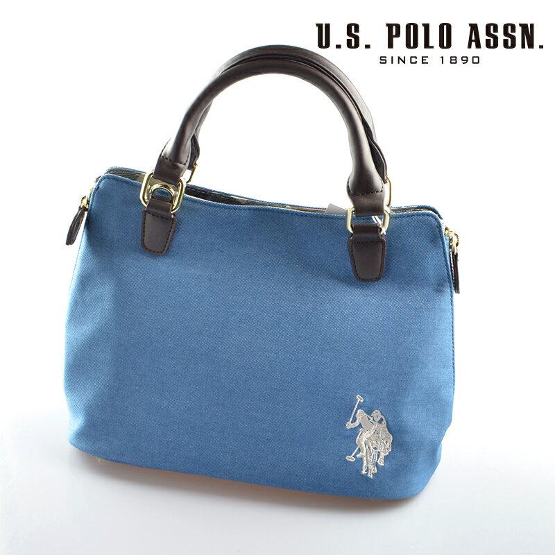 【d送料無料】US POLO ASSN 689001 USPA-2602 ライトブルー 2wayサイドZIPバッグ 【新品・正規品】 【】