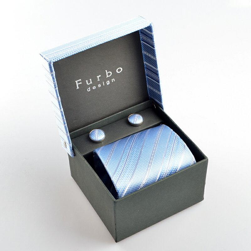 Furbo design (フルボデザイン) 340516 ネクタイ チーフ カフス3点セット tz11191t1 ギフトBOXセット 【新品・正規品・送料無料】新生活 ギフト 【】