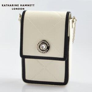 KATHARINE HAMNETT KH55-5002 牛革タバコケース キャサリンハムネット シガレットケース ホワイト【新品・正規品・送料無料】 ギフト 【】