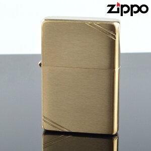 Zippo ジッポライター zp240 スタンダードフラットトップビンテージサイドカット ブラスサテーナ オイルライター 【新品・正規品・送料無料】 ギフト 【】