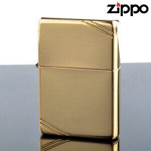 Zippo ジッポライター zp270 スタンダードフラットトップビンテージサイドカット ブラスポリッシュ オイルライター 【新品・正規品・送料無料】 ギフト 【】