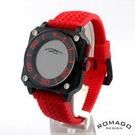 ROMAGO DESIGN[ロマゴデザイン] rm018-0073pl-rd ミラー文字盤 クォーツ 腕時計 ブランド ファッション 腕時計 RM018-0073PL-RD 【新品・正規品・送料無料】 ギフト 【】
