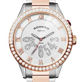 ROMAGO DESIGN[ロマゴデザイン] RM019-0214SS-RGWH Luxury series ミラー文字盤 クォーツ 腕時計 ブランド ファッション 腕時計 【新品・正規品・送料無料】 ギフト 【】