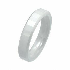 指輪 セラミック ラインカット入りリング 幅4.0mm 白 ホワイト|Ceramic アクセサリー レディース メンズ