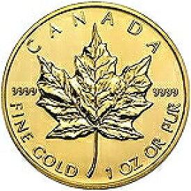 【新品未使用】 金貨 24金 メイプルリーフ金貨 1オンス 1oz カナダ ランダムイヤー 金地金 純金 k24 24k メープル|硬貨 コイン 貴金属