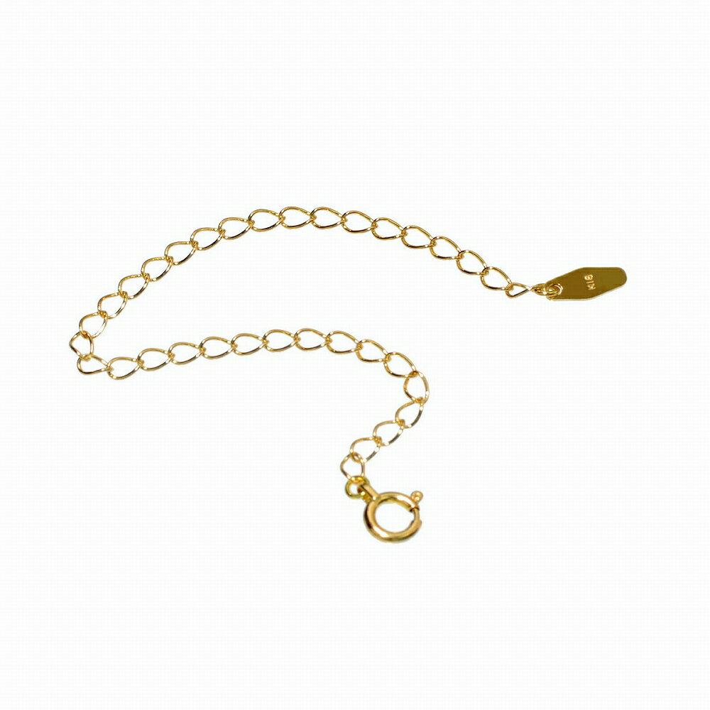 ネックレス用アジャスター ひし形 18金 イエローゴールド 幅2.1mm 長さ10cm|鎖 K18YG 18k 貴金属 ジュエリー レディース メンズ
