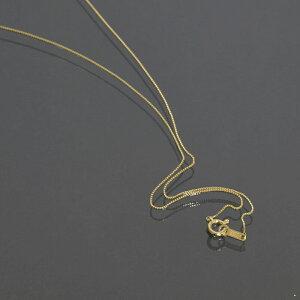 ネックレス チェーン 10金 イエローゴールド ベネチアンチェーン 幅0.5mm 長さ38cm|鎖 K10YG 10k 貴金属 ジュエリー レディース メンズ