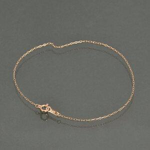 ブレスレット チェーン 18金 ピンクゴールド ロング小豆チェーン 幅1.0mm 長さ22cm|鎖 K18PG 18k 貴金属 ジュエリー レディース メンズ