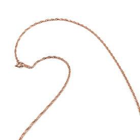 ネックレス チェーン 18金 ピンクゴールド スクリューチェーン 幅1.6mm 長さ55cm|鎖 K18PG 18k 貴金属 ジュエリー レディース メンズ