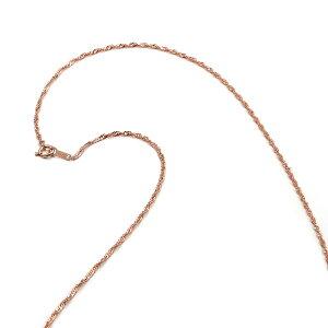 【18金ピンクゴールド】スクリューチェーン・ネックレス(1.6mm/50cm)「鎖/K18PG/18k・貴金属ジュエリー」