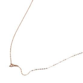ネックレス チェーン 18金 ピンクゴールド 小判みたいなチェーン 幅1.1mm 長さ55cm|鎖 K18PG 18k 貴金属 ジュエリー レディース メンズ