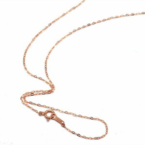 ネックレス チェーン 18金 ピンクゴールド 小判みたいなチェーン 幅1.1mm 長さ45cm 鎖 K18PG 18k 貴金属 ジュエリー レディース メンズ