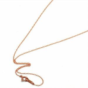 ネックレス チェーン 18金 ピンクゴールド ロング小豆チェーン 幅1.0mm 長さ80cm|鎖 K18PG 18k 貴金属 ジュエリー レディース メンズ