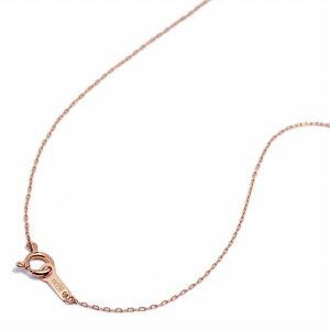 ネックレス チェーン 18金 ピンクゴールド 4面カット小豆チェーン 幅0.7mm 長さ60cm|鎖 K18PG 18k 貴金属 ジュエリー レディース メンズ