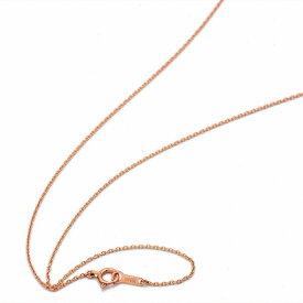 ネックレス チェーン 18金 ピンクゴールド 小豆チェーン 幅1.0mm 長さ55cm|鎖 K18PG 18k 貴金属 ジュエリー レディース メンズ